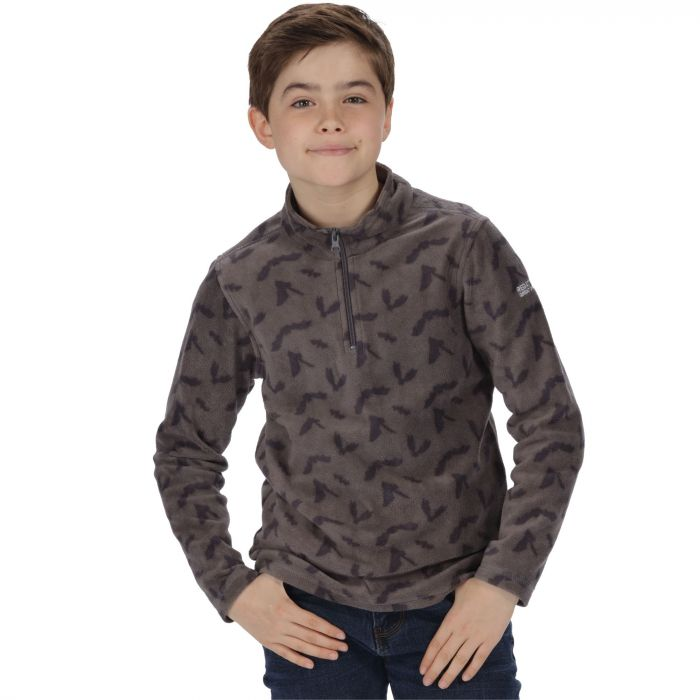 Kids Lovely Jubblie Lightweight Half Zip Fleece Dust Bat Print