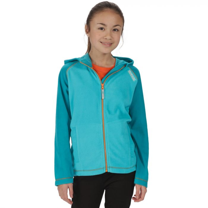 Kids Upflow Lightweight Hooded Fleece Aqua Enamel