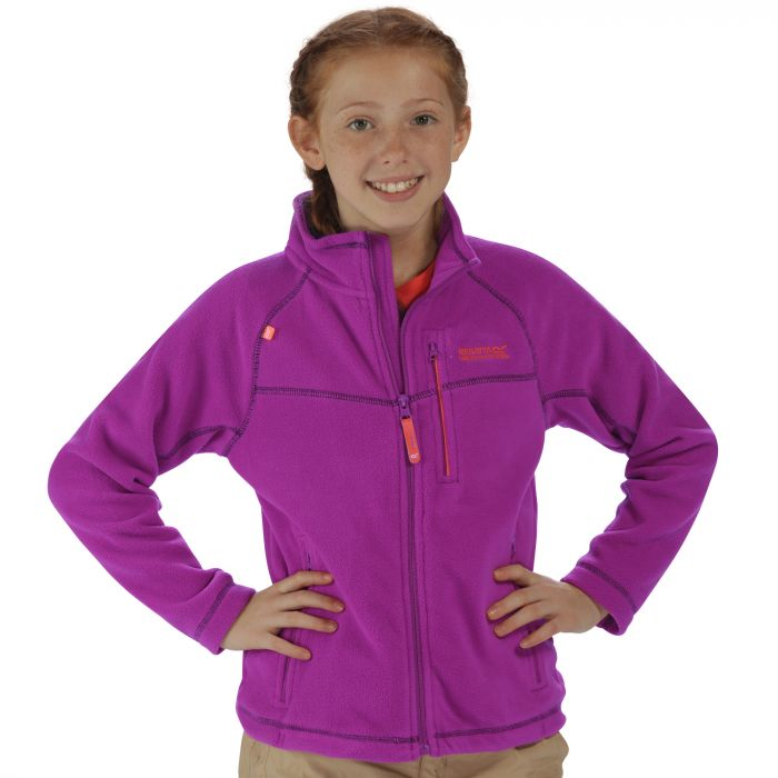 Kids Marlin V Lightweight Full Zip Fleece Vivid Viola