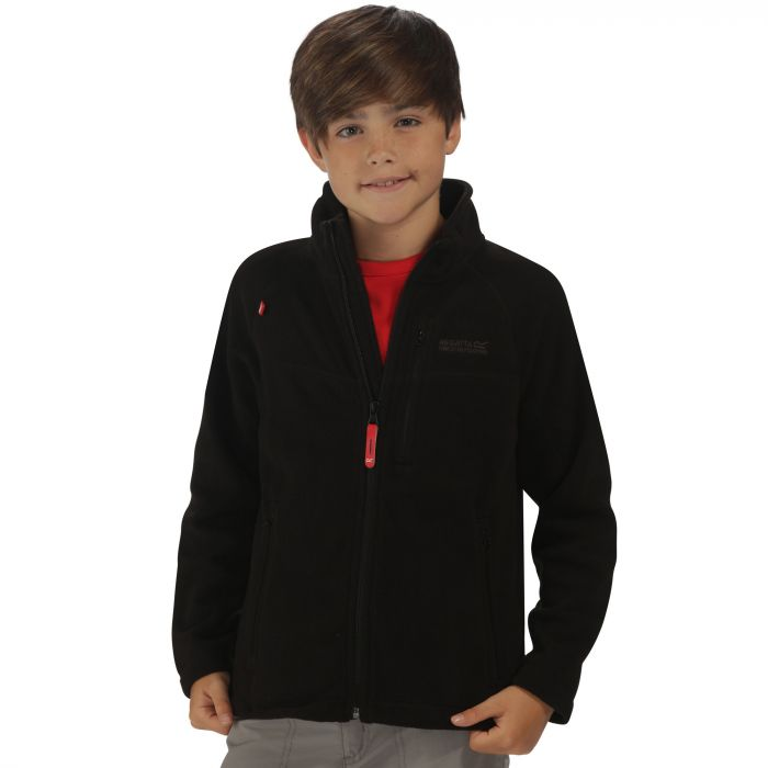 Kids Marlin V Lightweight Full Zip Fleece Black
