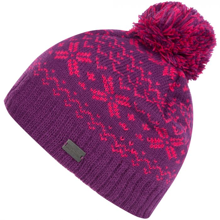 Kids Snowflake II Fair Isle Knit Bobble Hat Winberry