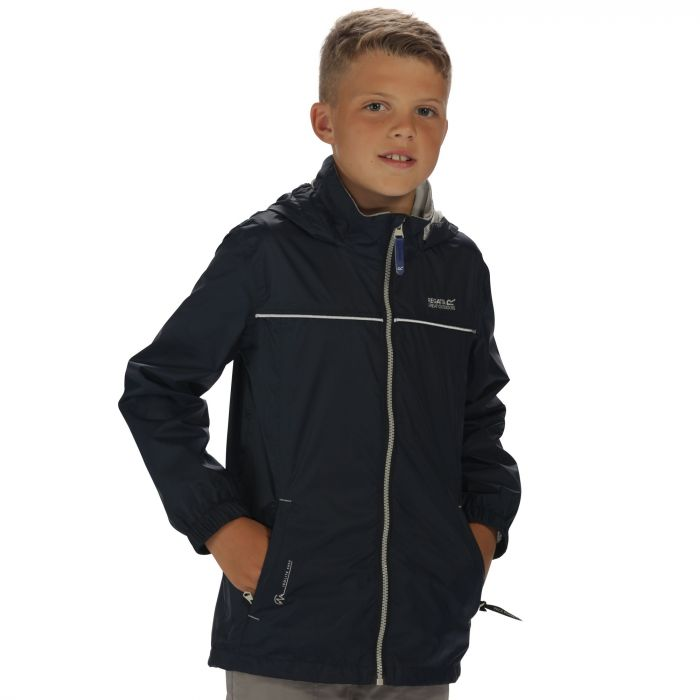 Kids Fieldfare II Waterproof Jacket with Concealed Hood Navy