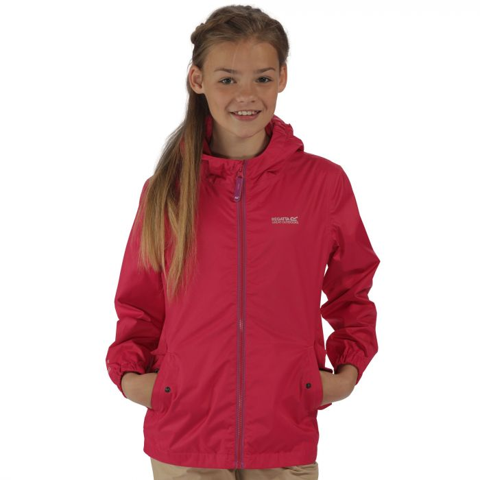 Kids Disguize Waterproof Jacket with Water Activated Pattern Pink