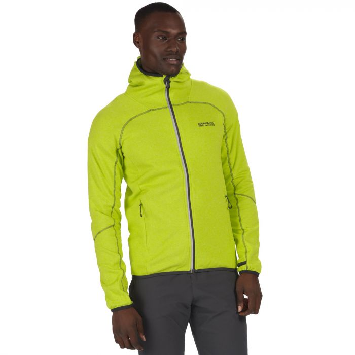 Men's Raisby Warm Backed Stretch Hooded Softshell Jacket Lime Green