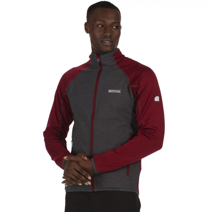 Vorso Stretch Softshell Jacket Spiced Mulberry Seal Grey Reflective