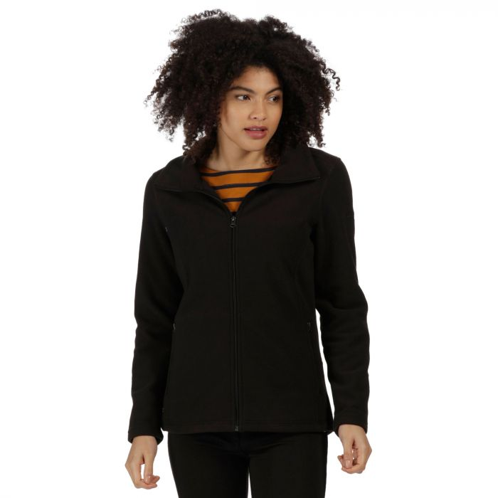 Cathie III Full Zip Anti-Pill Fleece Black