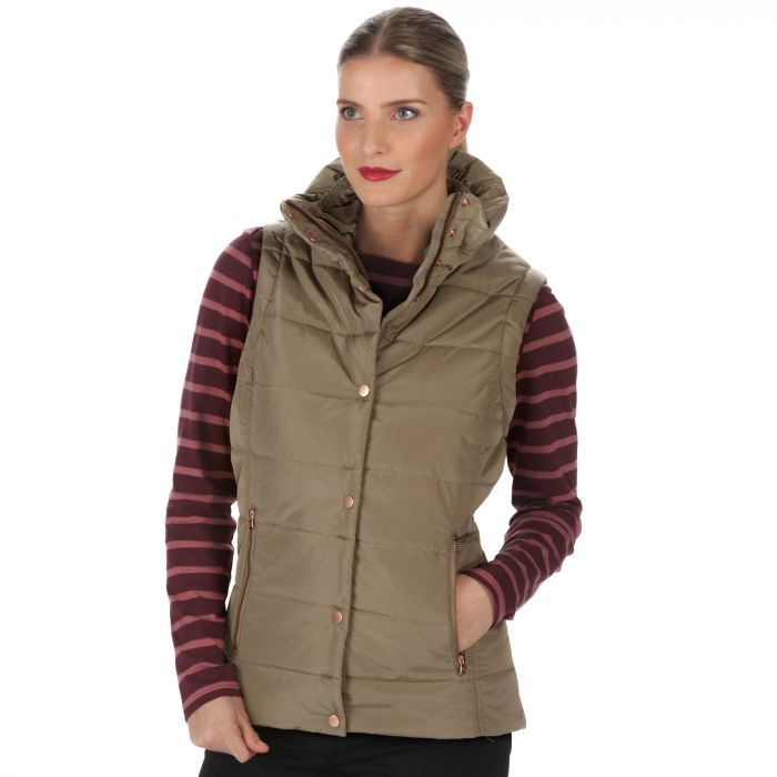 Wynne High Shine Insulated Puffer Gilet Sand