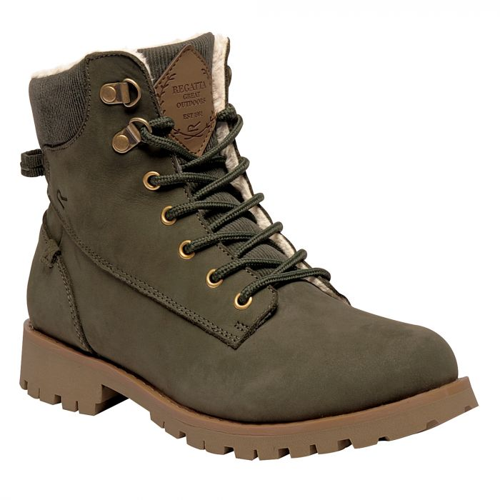 Women's Bayley Casual Boots Dark Khaki
