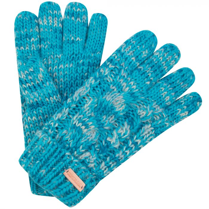 Women's Frosty Knit Gloves Aqua