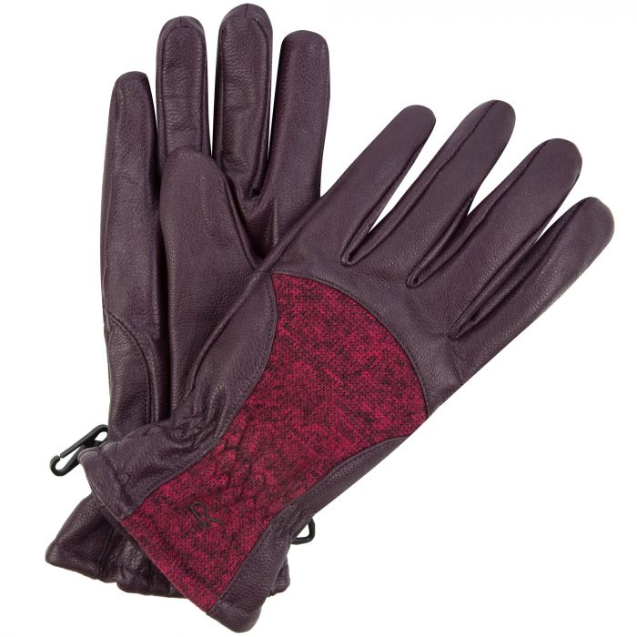 Women's Garabina Leather Gloves Fig Dark Pimento