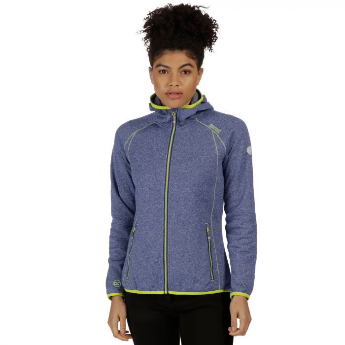 Women's Raisby Warm Backed Stretch Hooded Softshell Jacket Twilight Blue