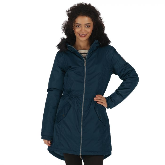 Lucetta Waterproof Insulated Parka Jacket Majolica Blue