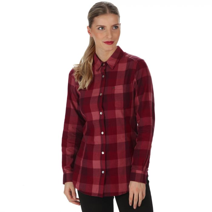 Marcie Coolweave Cotton Checked Shirt Dark Pimento