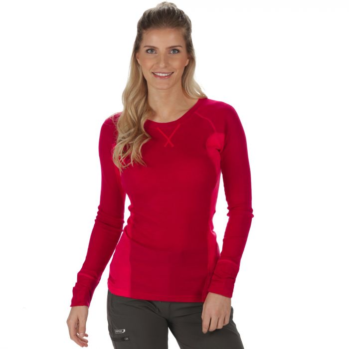 Women's Beru Overhead Base Layer Top Dark Cerise Bright Blush