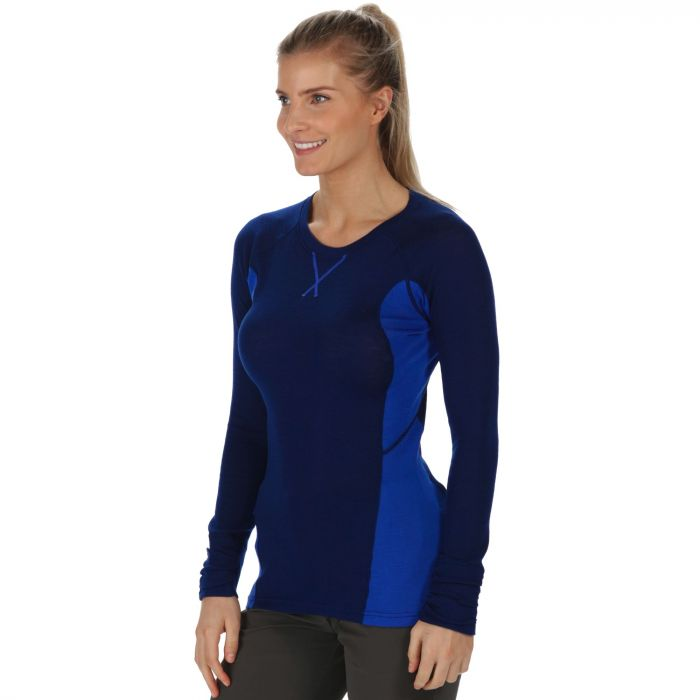 Women's Beru Overhead Base Layer Top Twilight Dazzling Blue