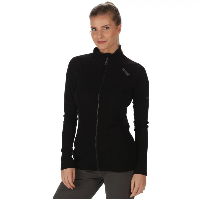 Women's Tunkin Full Zip Base Layer Top Black