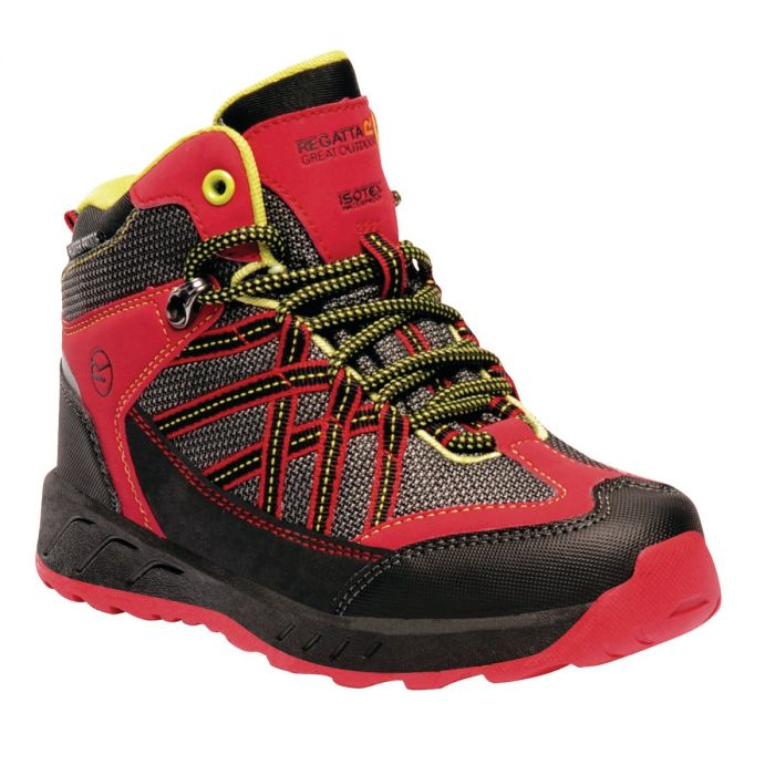 Kids Samaris Mid Hiking Walking Boots Pepper Lime Zest