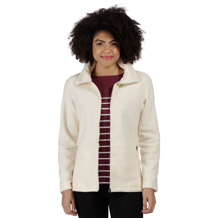 Cathie III Full Zip Anti-Pill Fleece Light Vanilla