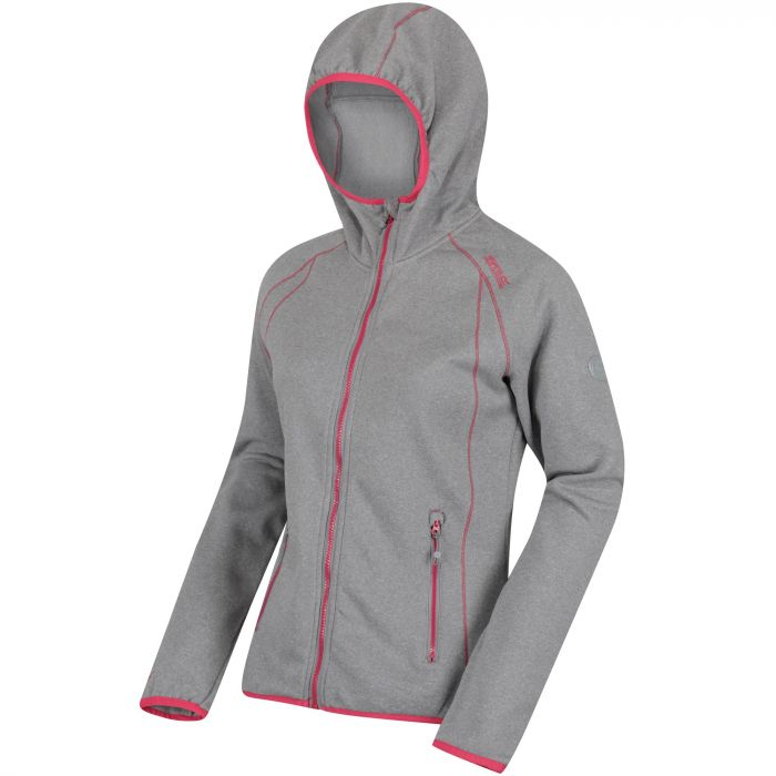 Women's Raisby Warm Backed Stretch Hooded Softshell Jacket Rock Grey