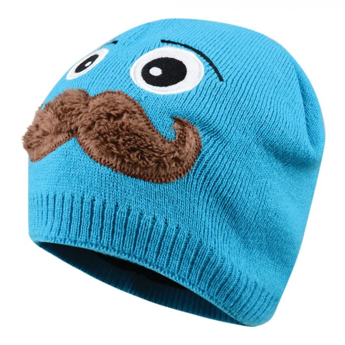 Dare 2B Kids Look Out Beanie Hat Fluro Blue