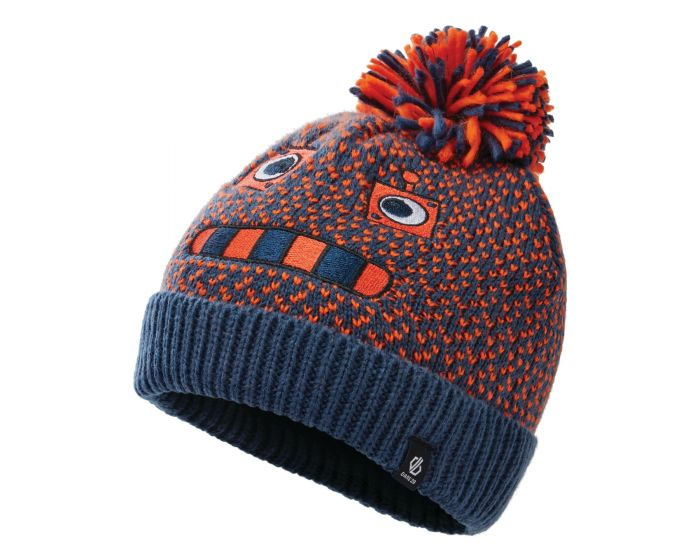 Dare 2b - Boys Brainstorm Ii Fleece Lined Knit Beanie Dark Denim Robot