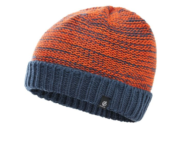 Dare 2b - Boys Hilarity Fleece Lined Knit Beanie Dark Denim Blaze Orange