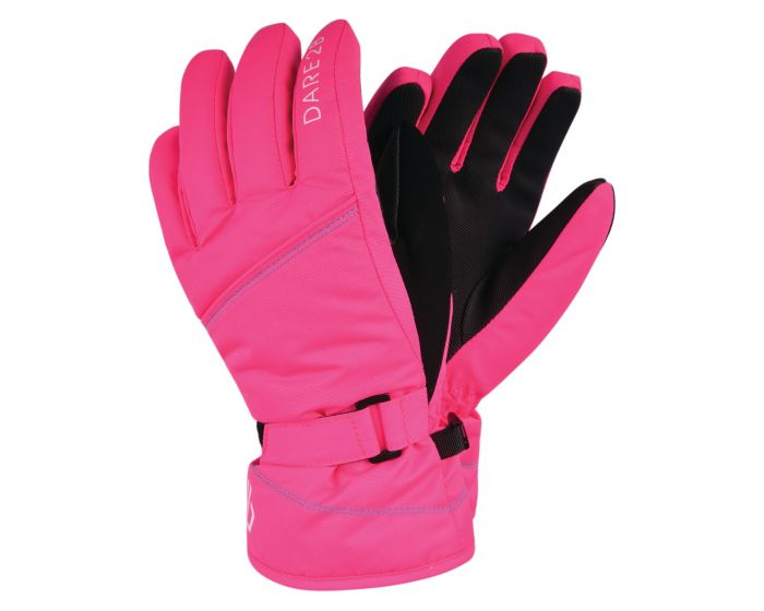 Dare 2b - Girls Impish Waterproof Insulated Ski Gloves Neon Pink
