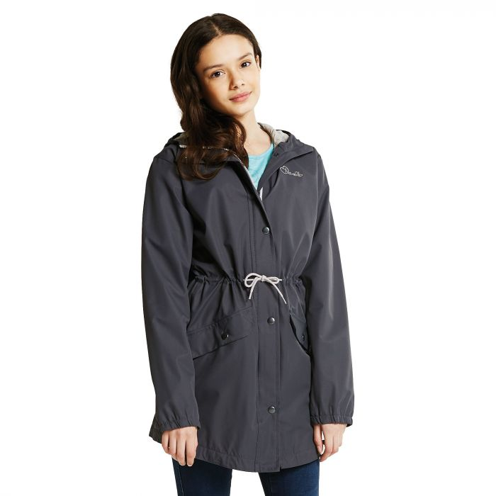 Dare 2B Kids Pledged Waterproof Shell Jacket Ebony Grey