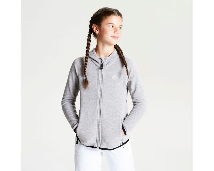 Dare 2b Childrens Enlist Full Hooded Marl Fleece with Zipped Lower Pockets
