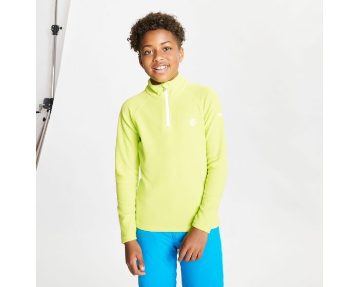 Dare 2b - Kids Freehand Half Zip Lightweight Fleece Lime Punch