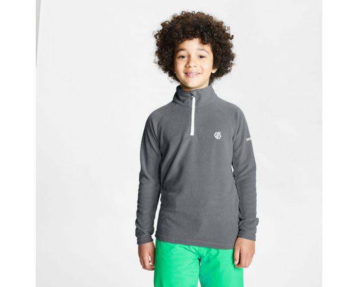 Dare 2b - Kids Freehand Half Zip Lightweight Fleece Aluminium Grey