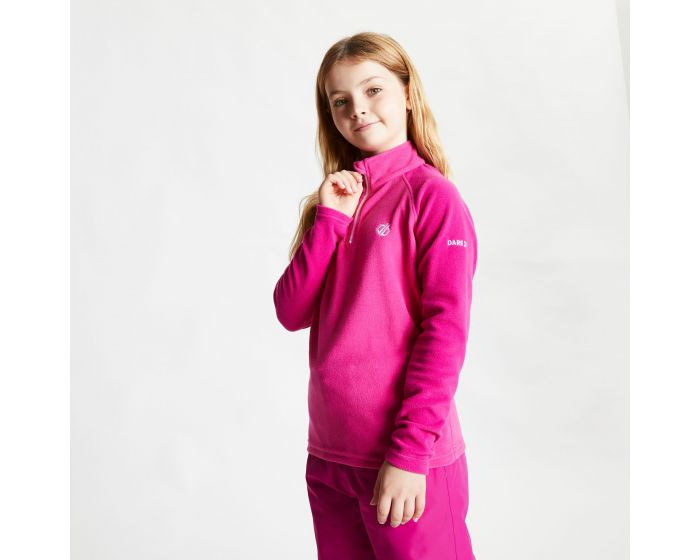 Dare 2b - Kids Freehand Half Zip Lightweight Fleece Active Pink Fuchsia Pink