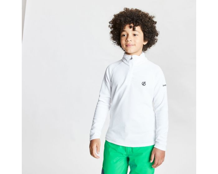 Dare 2b - Kids Freehand Half Zip Lightweight Fleece White