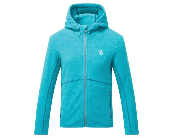 Dare 2b - Kids Genesis Full Zip Hooded Fleece Ceramic Blue