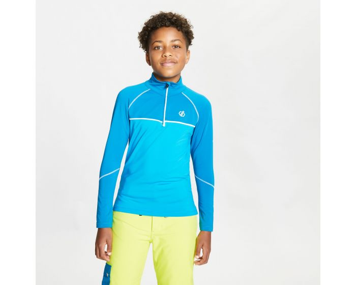 Dare 2b - Kids Formate Core Stretch Half Zip Midlayer Petrol Blue Methyl Blue