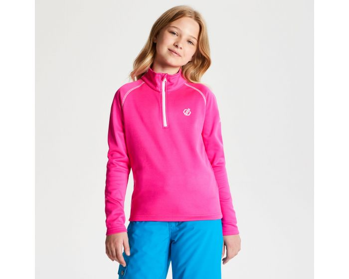 Dare 2b - Kids Consist Core Stretch Half Zip Midlayer Cyber Pink