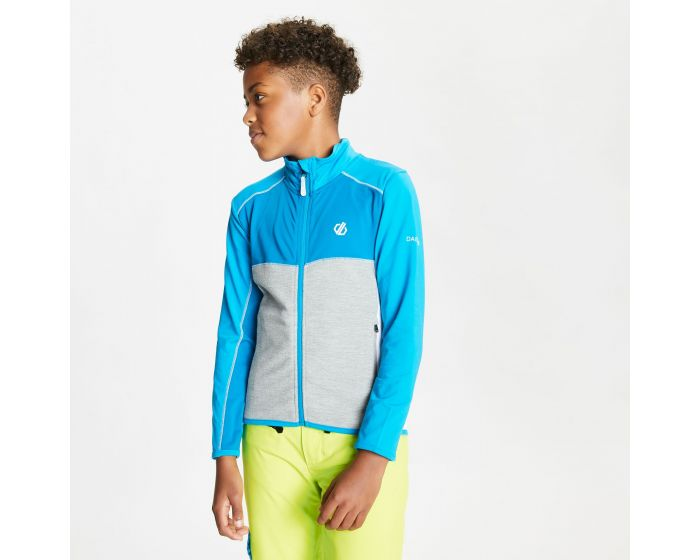 Dare 2b - Kids Except Full Zip Lightweight Core Stretch Midlayer Petrol Blue Methyl Blue