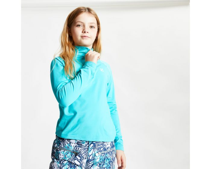 Dare 2b - Kids Consist Ii Half Zip Lightweight Core Stretch Midlayer Ceramic Blue