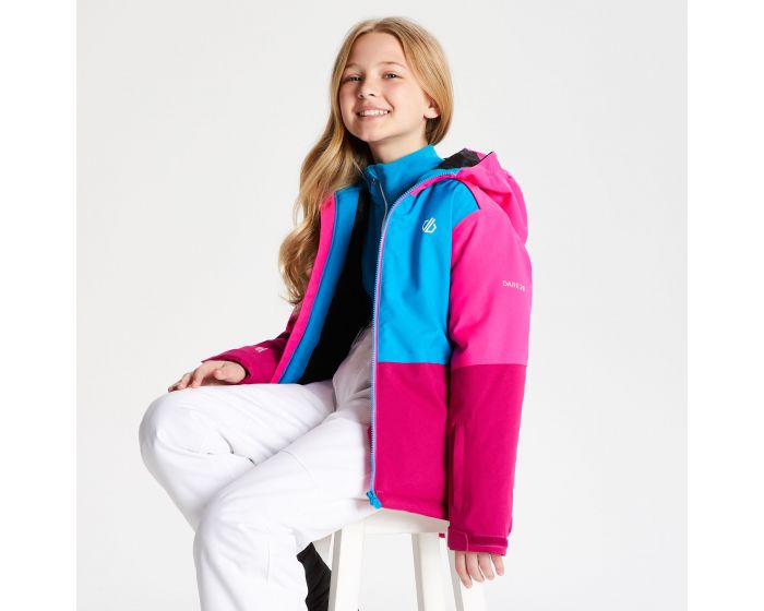 Dare 2b - Kids Aviate Ski Jacket Fuchsia Atlantic Blue Cyber Pink