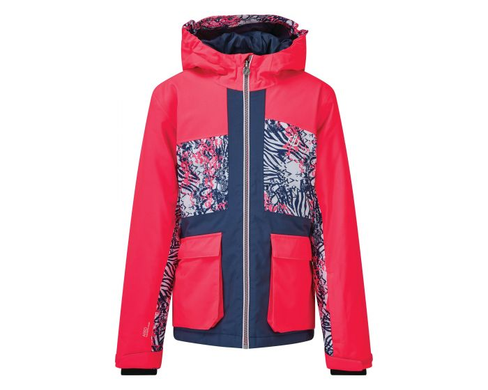 Dare 2b - Kids Esteem Waterproof Insulated Hooded Ski Jacket Neon Pink