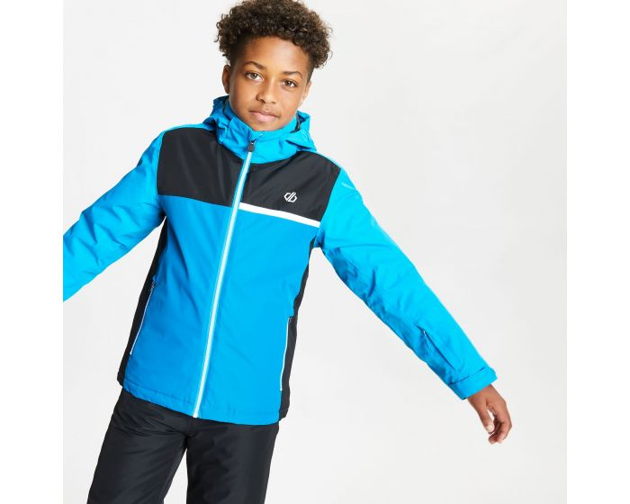 Dare 2b - Kids Depend Waterproof Insulated Hooded Ski Jacket Methyl Blue Petrol Blue