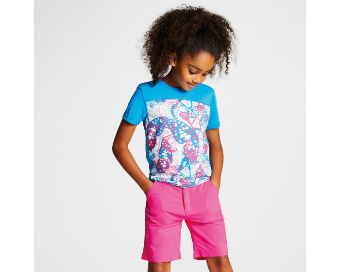 Dare 2b - Kids Buoyant Active T-shirt Atlantic Blue Cyber Pink