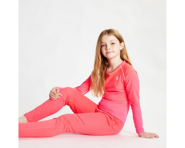 Dare 2b - Kids Elate Base Layer Set Neon Pink