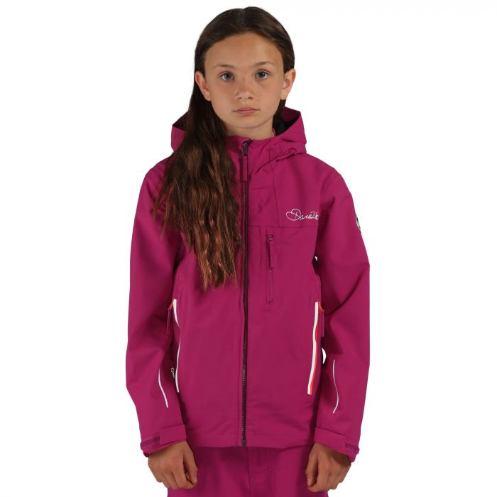 Dare 2B Kids Resonance II Waterproof Shell Jacket Camellia Pur