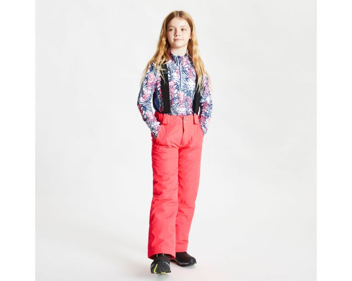 Dare 2b - Kids Motive Waterproof Insulated Ski Pants Neon Pink