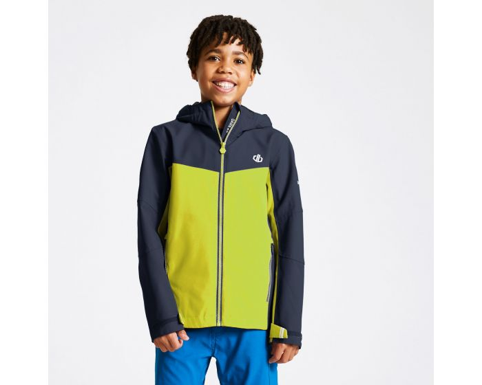 Dare 2b - Kids In The Lead Waterproof Jacket Outerspace Blue Lime Punch