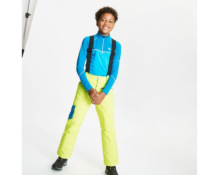 Dare 2b - Kids Timeout Ii Waterproof Insulated Ski Pants Lime Punch Petrol Blue