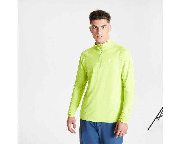 Dare 2b - Mens Fuse Up Ii Half Zip Lightweight Core Stretch Midlayer Lime Punch