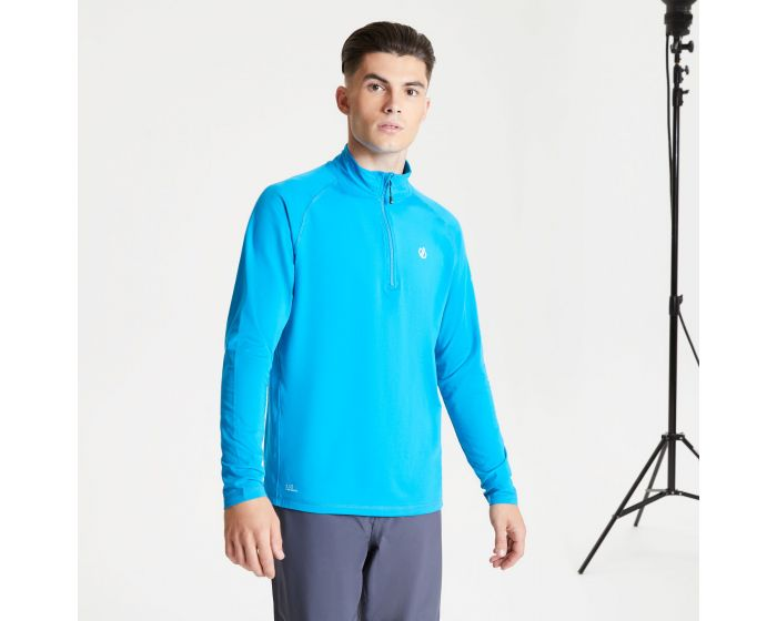Dare 2b - Mens Fuse Up Ii Half Zip Lightweight Core Stretch Midlayer Methyl Blue