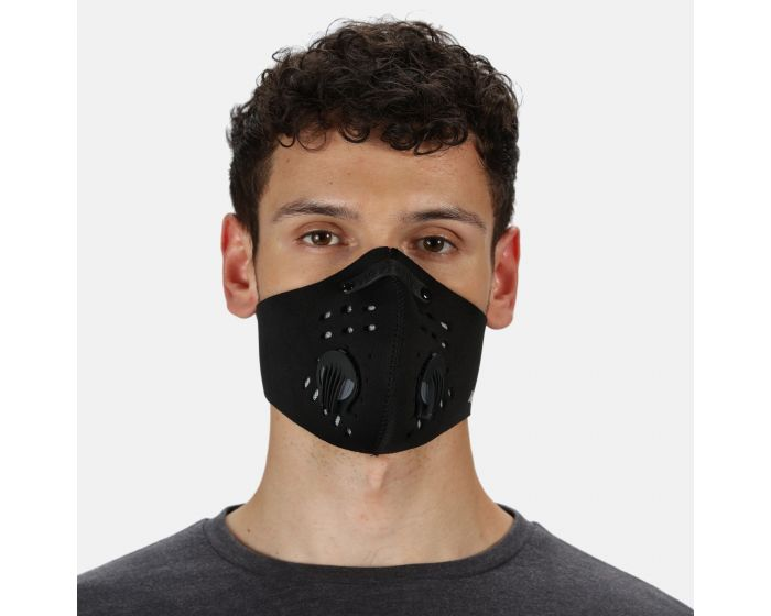 Dare 2b - Adults Anti Pollution Sports Face Covering Black